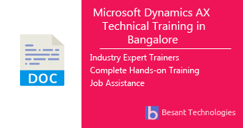 Microsoft Dynamics AX Technical Training in Bangalore